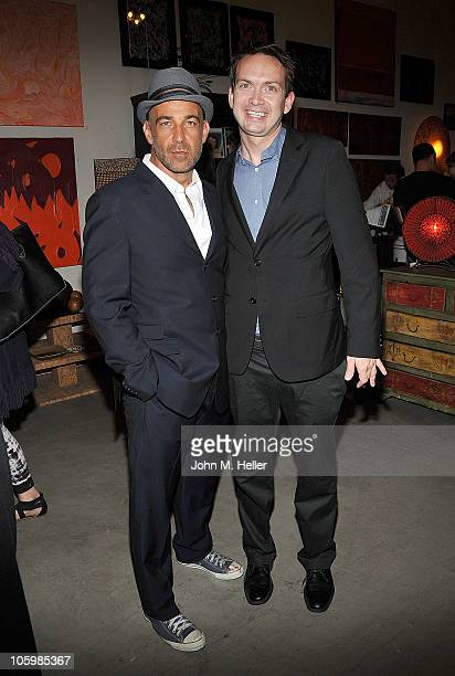 """Actors David Dayan Fisher and Michael Dean Shelton attend the book launch of """"Puppy School"""" by actor David Dayan Fisher at MUSH on October 23, 2010..."""