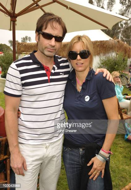 Actors David Duchovny and Tea Leoni attend the 21st A Time For Heroes Celebrity Picnic sponsored by Disney to benefit the Elizabeth Glaser Pediatric...