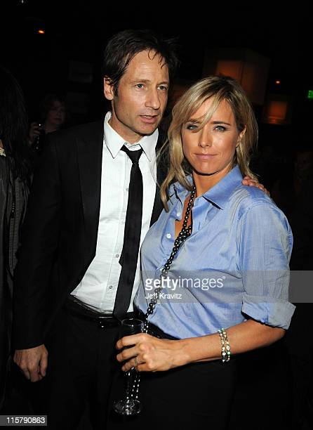 Actors David Duchovny and Tea Leoni attend the 67th Annual Golden Globe Awards official HBO After Party held at Circa 55 Restaurant at The Beverly...