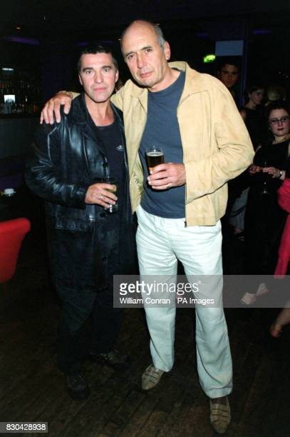 Actors David Easter who plays 'Pete Callan' and Stephen Yardley who plays 'Vince Farmer' at Channel 5's Family Affairs celebrity party held at the...