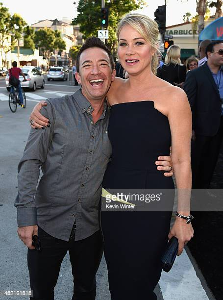 "Actors David Faustino and Christina Applegate attend the premiere of Warner Bros. Pictures ""Vacation"" at Regency Village Theatre on July 27, 2015 in..."