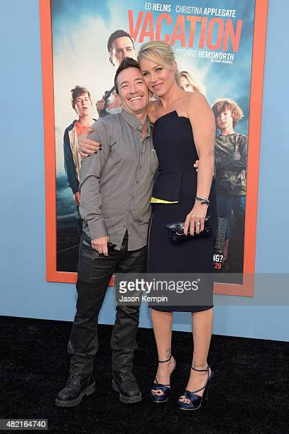 Actors David Faustino and Christina Applegate attend the premiere of Warner Bros Vacation at Regency Village Theatre on July 27 2015 in Westwood...