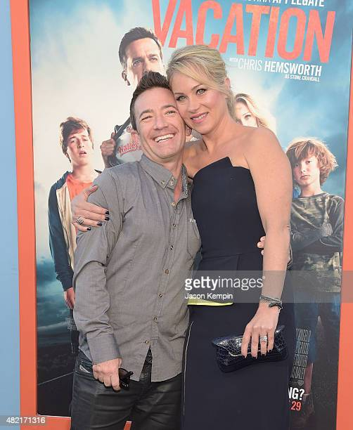 Actors David Faustino and Christina Applegate attend the premiere of Vacation at Regency Village Theatre on July 27 2015 in Westwood California