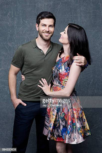 Actors David Giuntoli and Bitsie Tulloch of Grimm are photographed for Los Angeles Times at San Diego Comic Con on July 22 2016 in San Diego...