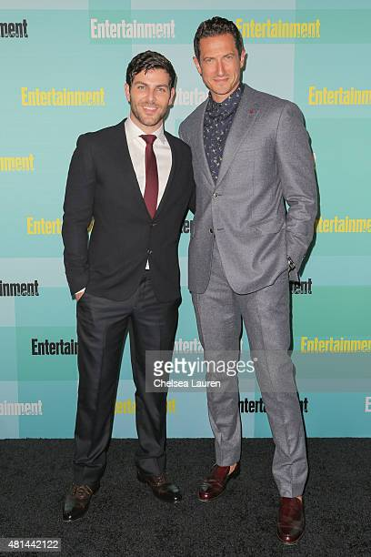 Actors David Giuntoli and Sasha Roiz arrive at the Entertainment Weekly celebration at Float at Hard Rock Hotel San Diego on July 11 2015 in San...