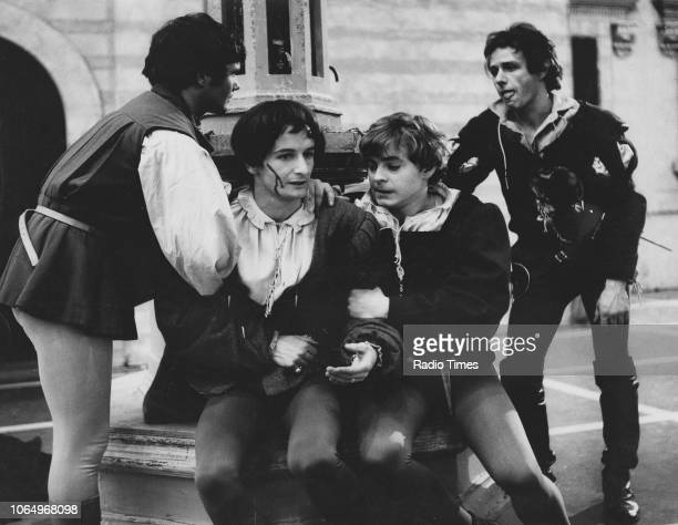 Actors David Griffin and Hywel Bennett in a scene from the BBC Play of the Month 'Romeo and Juliet', March 9th 1967.