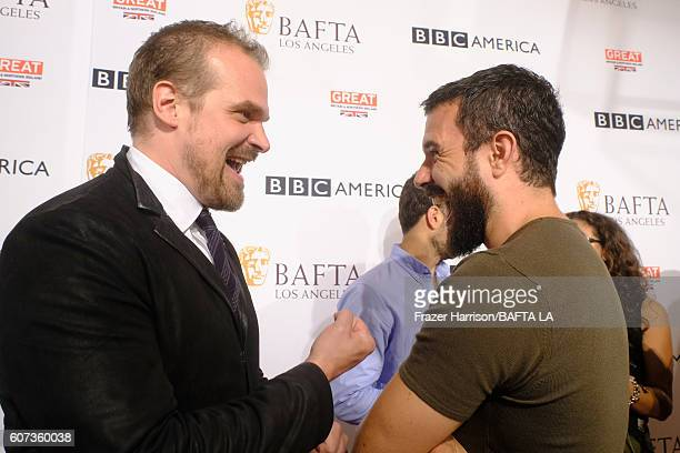 Actors David Harbour and Tom Cullen attend the BBC America BAFTA Los Angeles TV Tea Party 2016 at The London Hotel on September 17 2016 in West...
