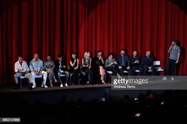 Actors David Hasselhoff Dwayne Johnson Priyanka Chopra Zac Efron Alexandra Daddario Kelly Rohrbach Ilfenesh Hadera Jon Bass director Seth Gordon...
