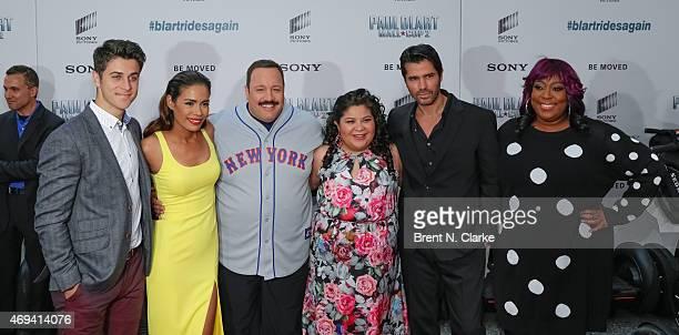 Actors David Henrie Daniella Alonso actor/writer/producer Kevin James actors Raini Rodriguez Eduardo Verastegui and Loni Love arrive for the Paul...