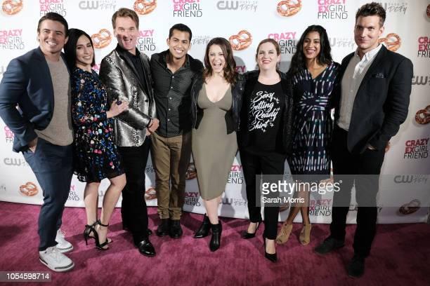 Actors David Hull Gabrielle Ruiz Pete Gardner Erick Lopez Rachel Bloom Donna Lynne Champlin Vella Lovell and Scott Michael Foster attend the Crazy...