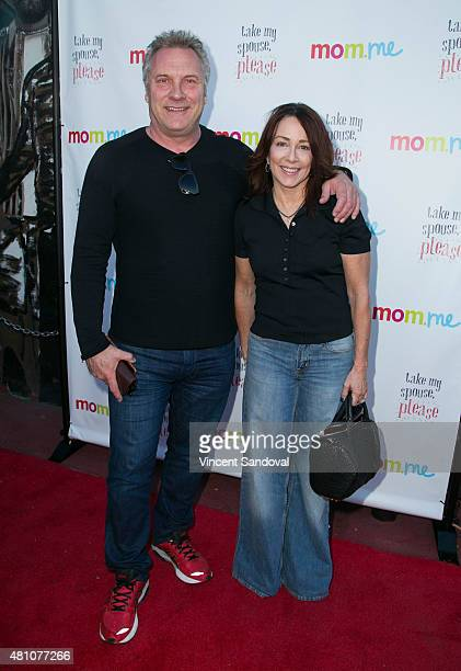 Actors David Hunt and Patricia Heaton attend the book launch party for Take My Spouse Please at Hollywood Improv on July 16 2015 in Hollywood...