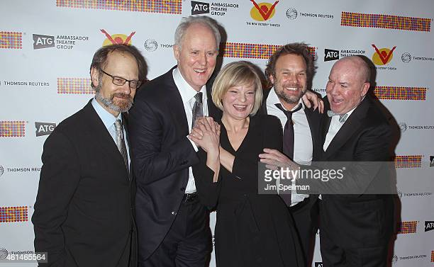 Actors David Hyde Pierce John Lithgow Martha Plimpton Norbert Leo Butz and director Jack O'Brien attend The New 42nd Street 2015 Gala at the Lyric...