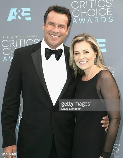 Actors David James Elliott and Nanci Chambers attends The 21st Annual Critics' Choice Awards at Barker Hangar on January 17 2016 in Santa Monica...