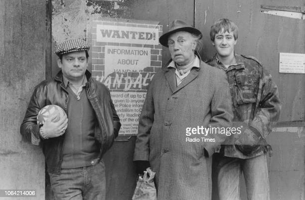 Actors David Jason Lennard Pearce and Nicholas Lyndhurst pictured during filming for the Christmas episode 'Diamonds Are for Heather' of the...