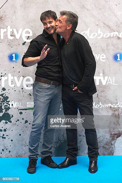 Actors David Jenner and Francis Lorenzo attend Aguila Roja photocall at the Escoriaza Esquivel Palace during FesTVal 2016 Day 4 on September 8 2016...
