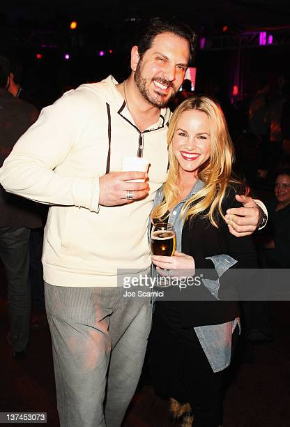 Actors David Kallaway and Julie Marie Berman attend TMobile presents Google Music at TAO a nightlife event at the Sundance Film Festival held at...