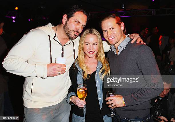 Actors David Kallaway and Julie Marie Berman attend T-Mobile presents Google Music at TAO, a nightlife event at the Sundance Film Festival, held at...