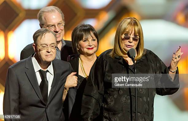 Actors David L Lander Michael McKean Cindy Williams and Penny Marshall speak onstage at the 10th Annual TV Land Awards at the Lexington Avenue Armory...