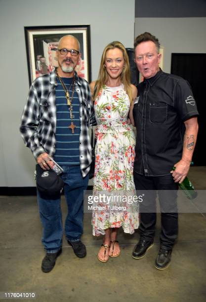 Actors David Labravda, Kristanna Loken and Robert Patrick attend a ceremony honoring America's armed forces who are missing in action on National...