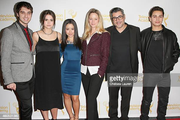 """Actors David Lambert, Maia Mitchell, Cierra Ramirez, Teri Polo, Danny Nucci and Jake T. Austin attend """"An Evening With The Fosters"""" presented by the..."""