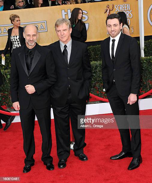 Actors David Marciano Jamey Sheridan and Hrach Titizian of 'Homeland' arrive for the 19th Annual Screen Actors Guild Awards Arrivals held at The...