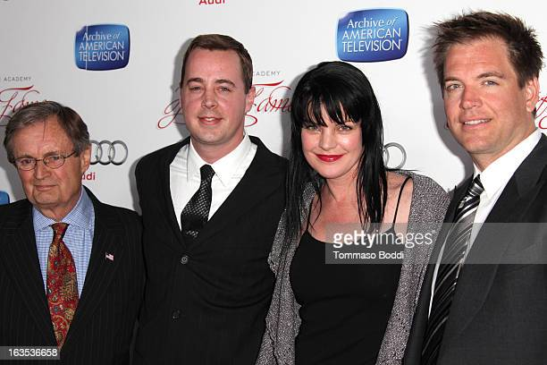 Actors David McCallum Sean Murray Pauley Perrette and Michael Weatherly attend the Television Academy's 22nd Annual Hall Of Fame Induction Gala held...