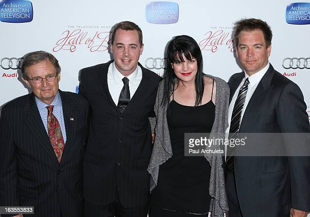 Actors David McCallum Sean Murray Pauley Perrette and Michael Weatherly attend the Academy Of Television Arts Sciences 22nd annual Hall Of Fame...