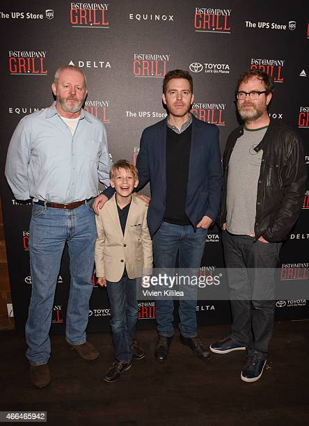 Actors David Morse and Jared Breeze director Craig William Macneill and actor Rainn Wilson attend the Fast Company Grill During SXSW Day 2 on March...