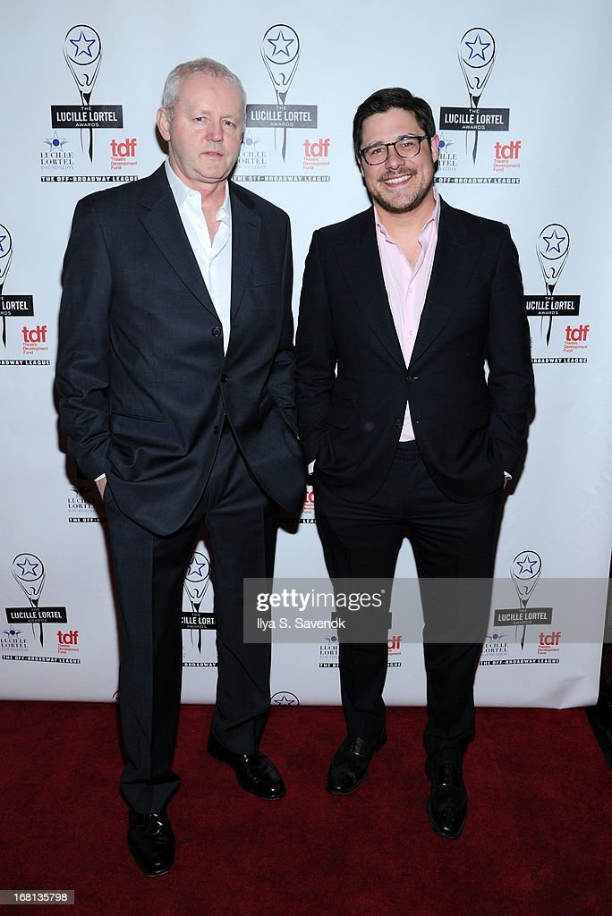 Actors David Morse (L) and Rich Sommer attend 28th Annual Lucille Lortel Awards at NYU Skirball Center on May 5, 2013 in New York City.