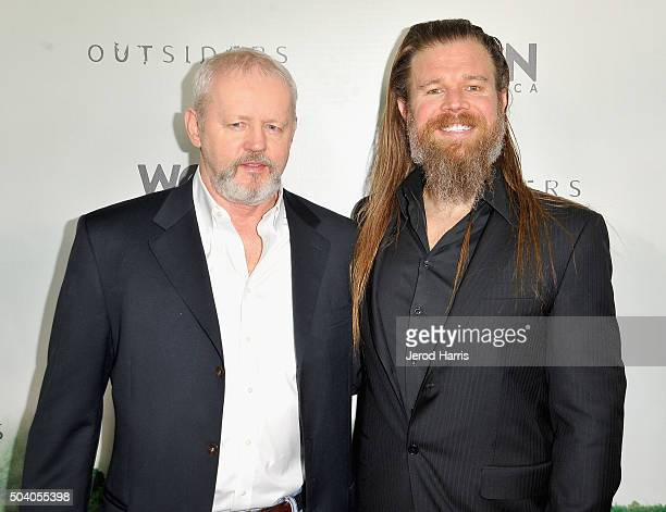 Actors David Morse and Ryan Hurst attend the WGN America Winter 2016 TCA Press Tour for Outsiders at The Langham Huntington Hotel and Spa on January...