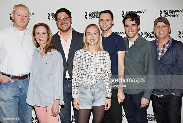 Actors David Morse Lisa Emery Rich Sommer Sarah Goldberg Christopher Denham playwright Steven Levenson and director Scott Ellis attend The...