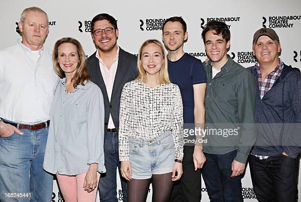 "Actors David Morse, Lisa Emery, Rich Sommer, Sarah Goldberg, Christopher Denham, playwright Steven Levenson and director Scott Ellis attend ""The..."