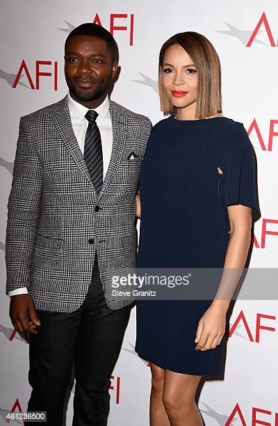 Actors David Oyelowo and Carmen Ejogo attend the 15th Annual AFI Awards at Four Seasons Hotel Los Angeles at Beverly Hills on January 9, 2015 in...
