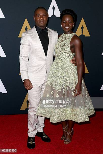 Actors David Oyelowo and Lupita Nyong'o attend the Academy of Motion Picture Arts and Sciences' 8th annual Governors Awards at The Ray Dolby Ballroom...