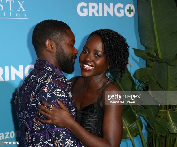 Actors David Oyelowo and Lupita Nyong'o attend the world premiere of 'Gringo' from Amazon Studios and STX Films at Regal LA Live Stadium 14 on March...