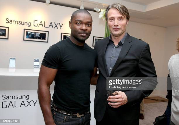 Actors David Oyelowo and Mads Mikkelsen attend Variety Awards Studio Day 1 at the Leica Gallery and Store on November 20 2013 in West Hollywood...