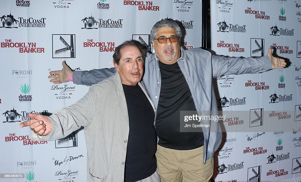 Actors David Proval (L) and Vincent Pastore attend the 'The Brooklyn Banker' New York premiere at SVA Theatre on August 2, 2016 in New York City.