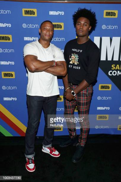 Actors David Ramsey and Echo Kellum attend the #IMDboat At San Diego ComicCon 2018 Day Three at The IMDb Yacht on July 21 2018 in San Diego California