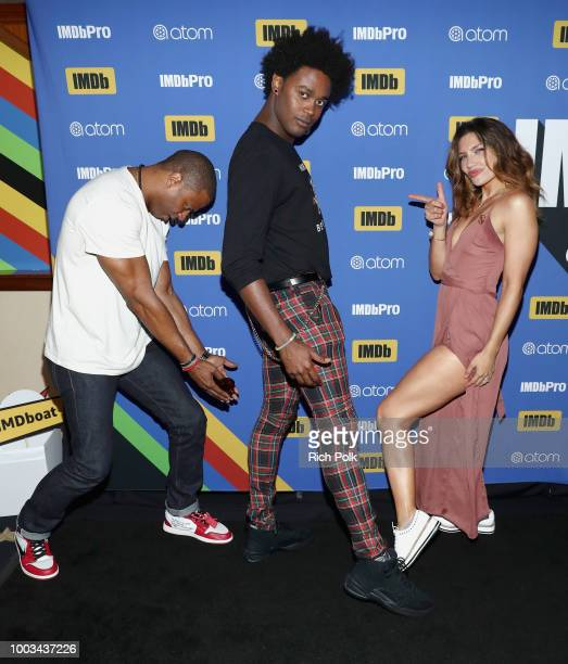 Actors David Ramsey Echo Kellum and Juliana Harkavy attend the #IMDboat At San Diego ComicCon 2018 Day Three at The IMDb Yacht on July 21 2018 in San...