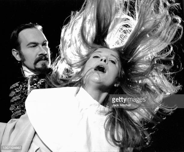 Actors David Schramm and Leah Chandler perform in the Acting Company's production of 'Measure For Measure' June 1973