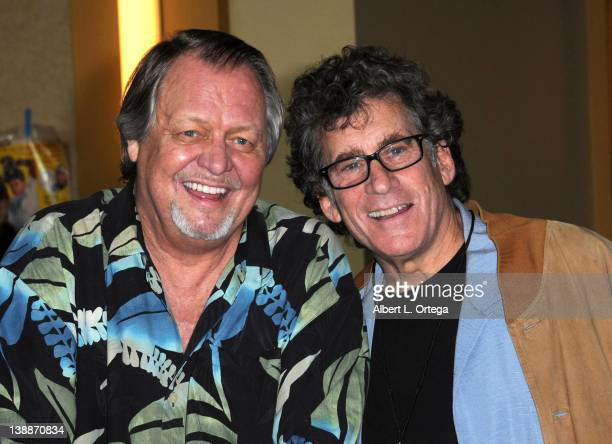 Actors David Soul and Paul Michael Glaser of Starsky Hutch attend the Hollywood Show held at Burbank Airport Marriott on February 11 2012 in Burbank...