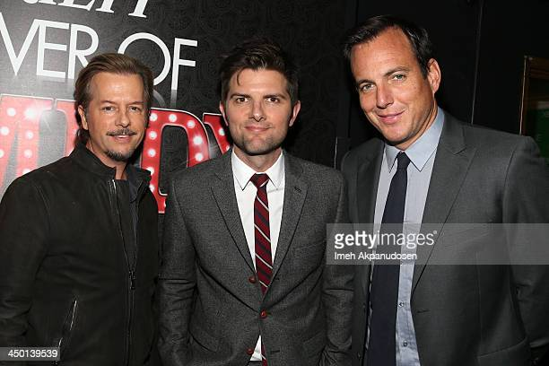 Actors David Spade, Adam Scott and Will Arnett attend Variety's 4th Annual Power of Comedy presented by Xbox One benefiting the Noreen Fraser...
