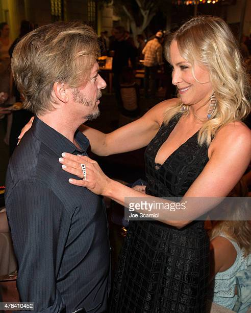Actors David Spade and Brittany Daniel attend the world premiere of Crackles Joe Dirt 2: Beautiful Loser at Sony Pictures Studios on Wednesday, June...