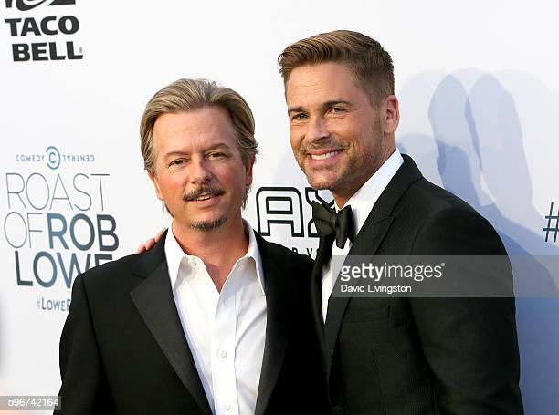 Actors David Spade and Rob Lowe attend the Comedy Central Roast of Rob Lowe at Sony Studios on August 27 2016 in Los Angeles California