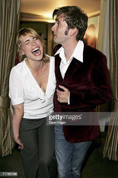 Actors David Tennant and Billie Piper arrive at the TV Quick and TV Choice Awards at the Dorchester Hotel Park Lane on September 4 2006 in London...