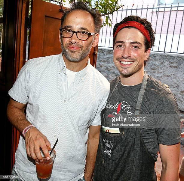 Actors David Wain and Ben Feldman attend Crab Cake 2014 presented by S Pellegrino Samsung Galaxy on August 17 2014 in Los Angeles California