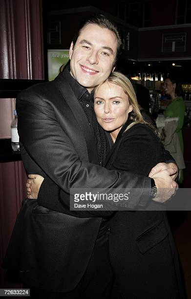 "Actors David Walliams and Patsy Kensit attend the afterparty following the ""Little Britain's Big Night"" charity gala performance in aid of Comic..."