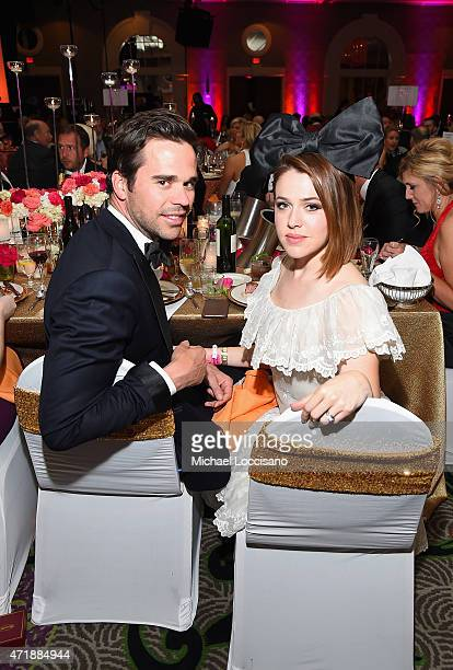 Actors David Walton and Majandra Delfino attend the 141st Kentucky Derby Unbridled Eve Gala at Galt House Hotel Suites on May 1 2015 in Louisville...