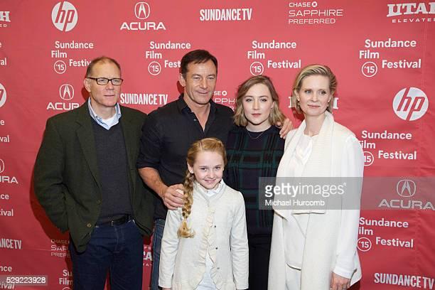 "Actors David Warshofsky, Jason Isaacs Avery Phillips, Saoirse Ronan and Cynthia Nixon attend the ""Stockholm, Pennsylvania"" premiere at the 2015..."