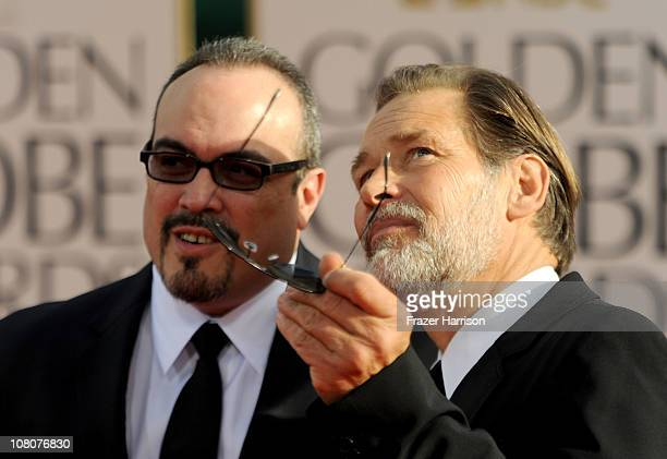 Actors David Zayas and James Remar arrives at the 68th Annual Golden Globe Awards held at The Beverly Hilton hotel on January 16 2011 in Beverly...